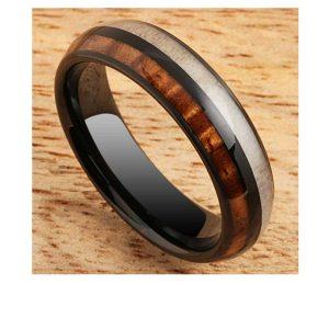 black-tungsten-ring-koa-wood-and-antler-6mm