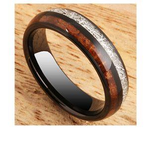 black-tungsten-ring-koa-wood-and-meteorite-6mm-1