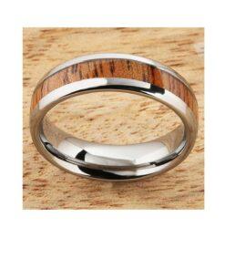 6mm tungsten ring koa wood