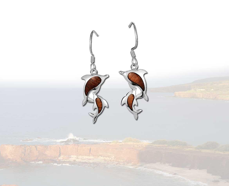 Dolphin Silver Earrings